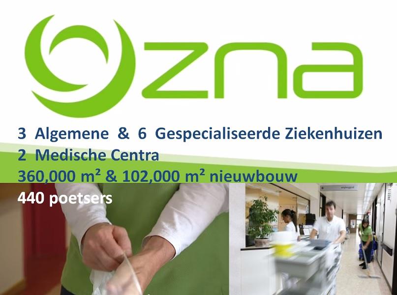 3 Algemene & 6 Gespecialiseerde Ziekenhuizen, 2 medische centra, 360 000 m² en 440 poetsers
